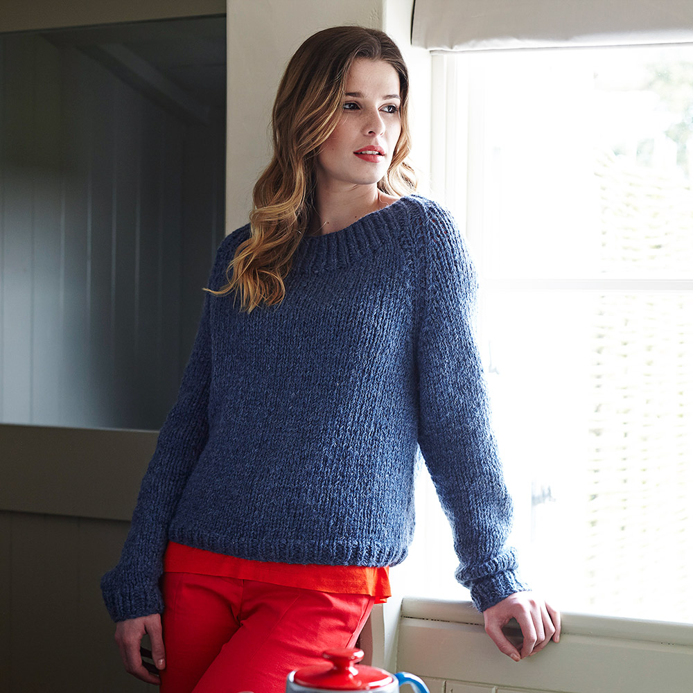 Easy Knitting Patterns Uk : Sweater knitting pattern