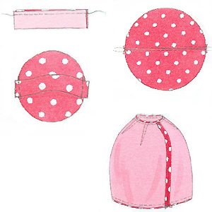 Beanbag sewing pattern steps illustrations