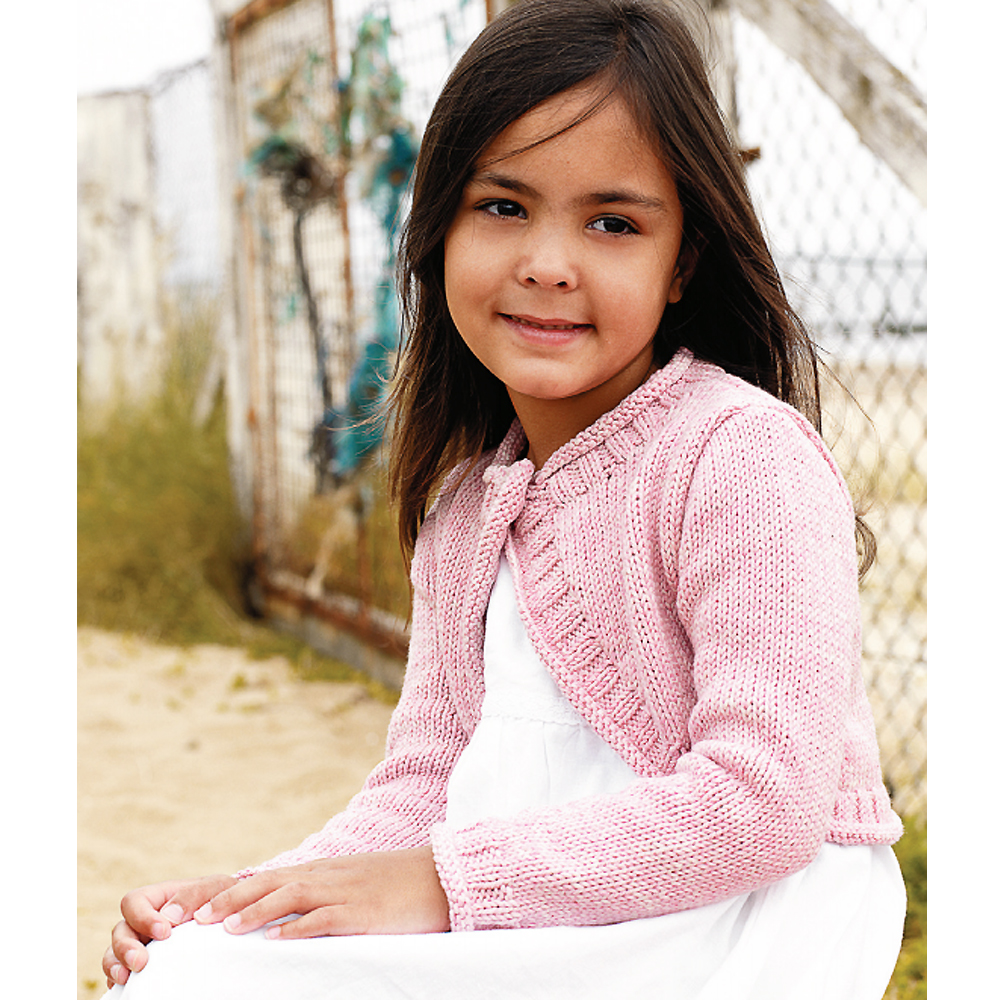 Free Knitting Pattern For Girls Bolero : Super-Cute Shrug Knitting Pattern For A Little Girl