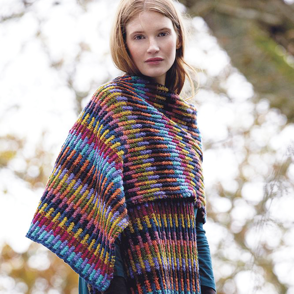Prima Magazine Knitting Patterns : Embrace The Blanket Trend With This Wrap To Knit