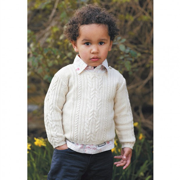 Try A Traditional Knit: Childs Cable Jumper