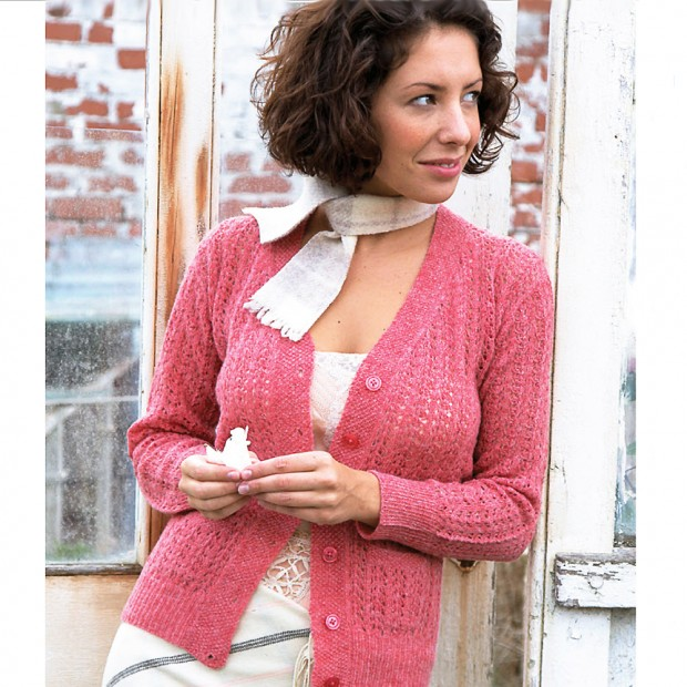 Lace Cardigan Knitting Pattern : Traditional Shetland-Style Cardigan To Knit
